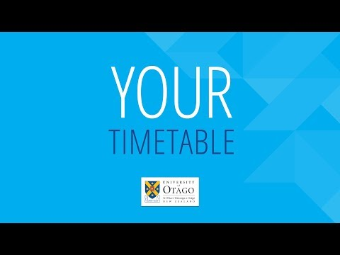 Your University of Otago Timetable
