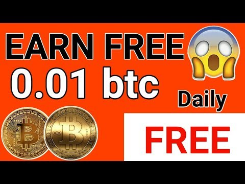 Earn Bitcoin Free Daily 0.01 btc   Payment proof in Hindi   no investment 5 minute work