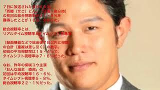 鈴木亮平主演の大河「西郷どん」初回の総合視聴率は21・9%