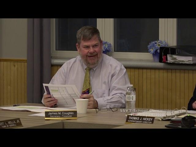 SSVT School Committee; February 19, 2020