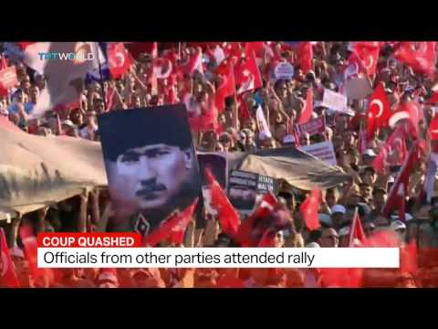 Turkey's opposition CHP holds pro-democracy rally, Kenan Cerimagic reports