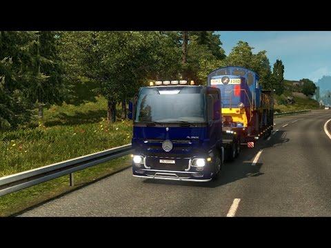 Euro Truck Simulator 2 Mods - Oversize Load Trailer - MB Actros MP3 - Mannheim to Bremen