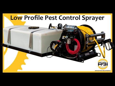 Pest Control Sprayer - 50 Gallon - Low Profile - 300' hose - Electric Reel
