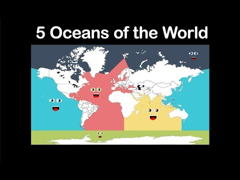 the atlantic ocean, arctic ocean, indian ocean, pacific ocean, and the proposed southern ocean around the antarctic. Five Oceans Song Five Oceans Of The World Youtube