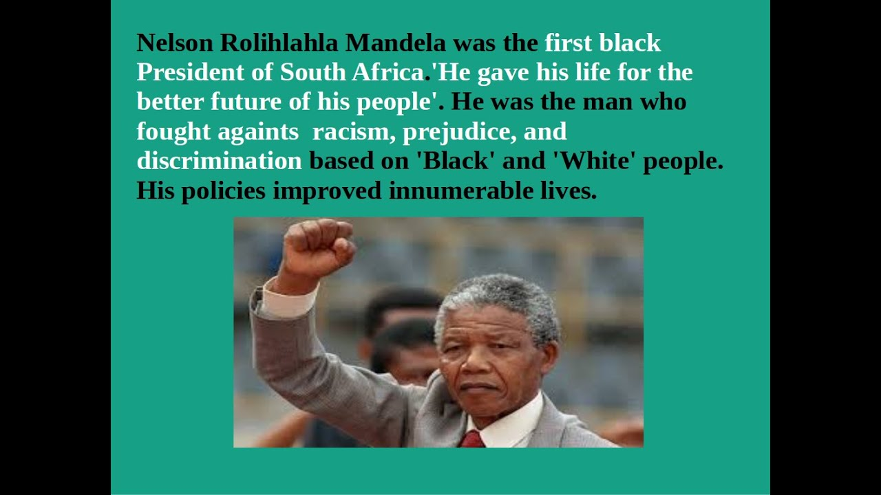 important nelson mandela facts essay Contribution of nelson mandela essay examples 1 total result biography and contribution of nelson mandela to the black community 2,129 words 5.