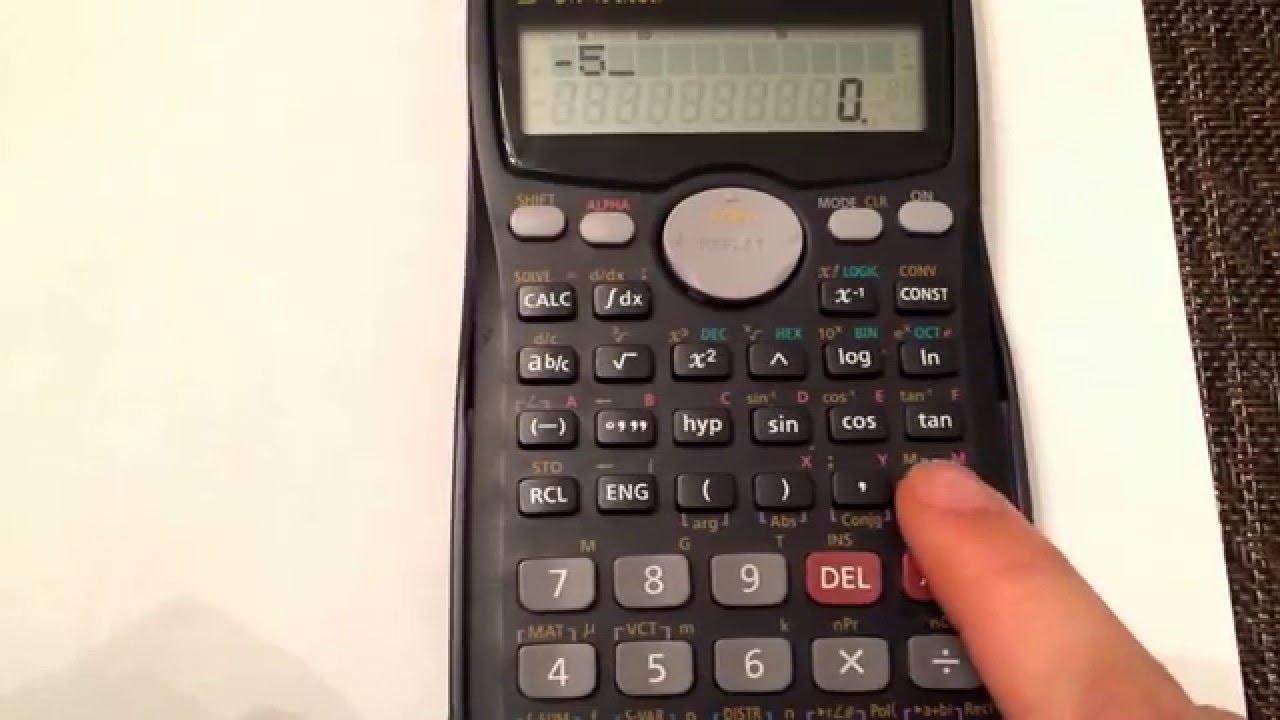 Entering negative values into your calculator (Casio fx-18Ms)