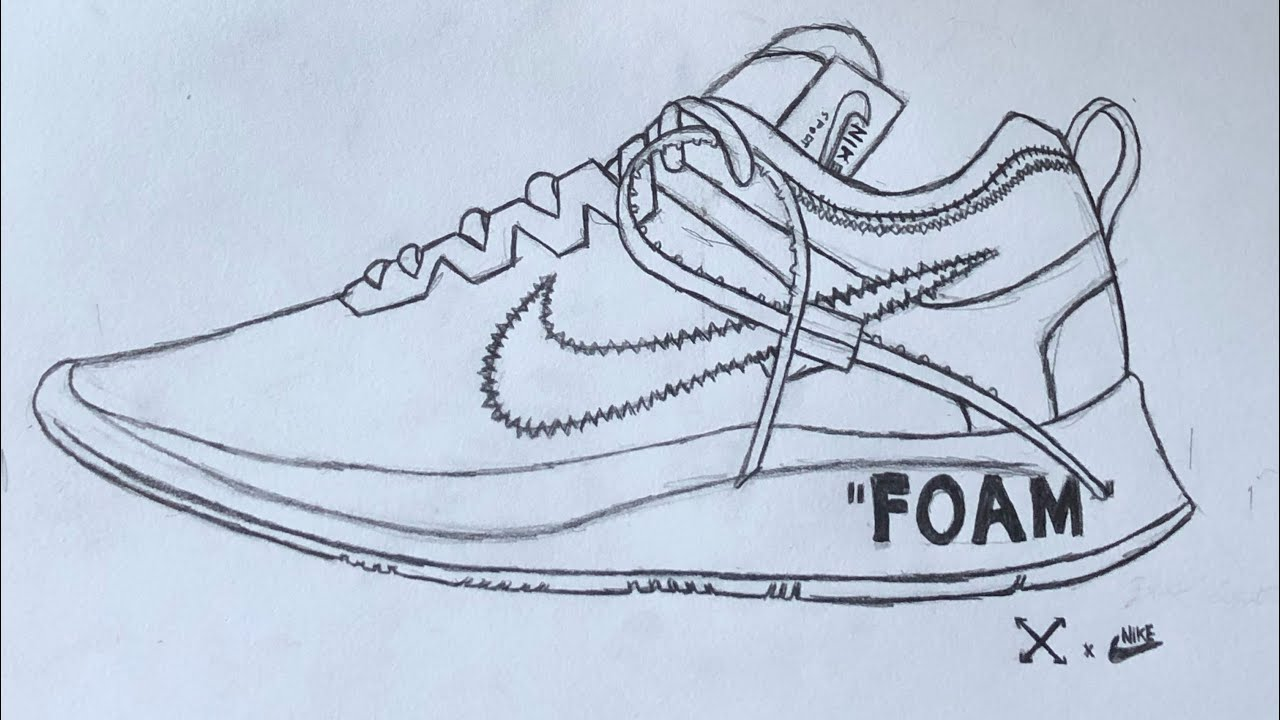 How To Draw The Off White Nike Zoom Fly