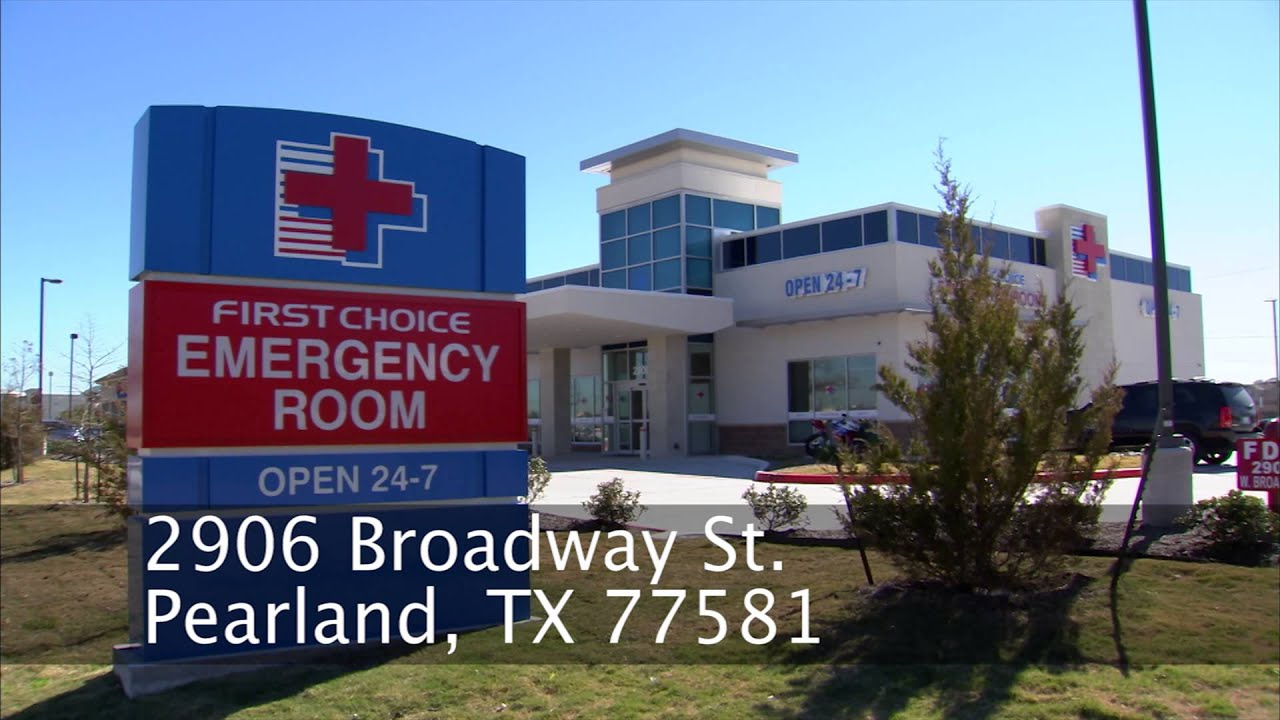 First Choice Emergency Room - Pearland TX - YouTube
