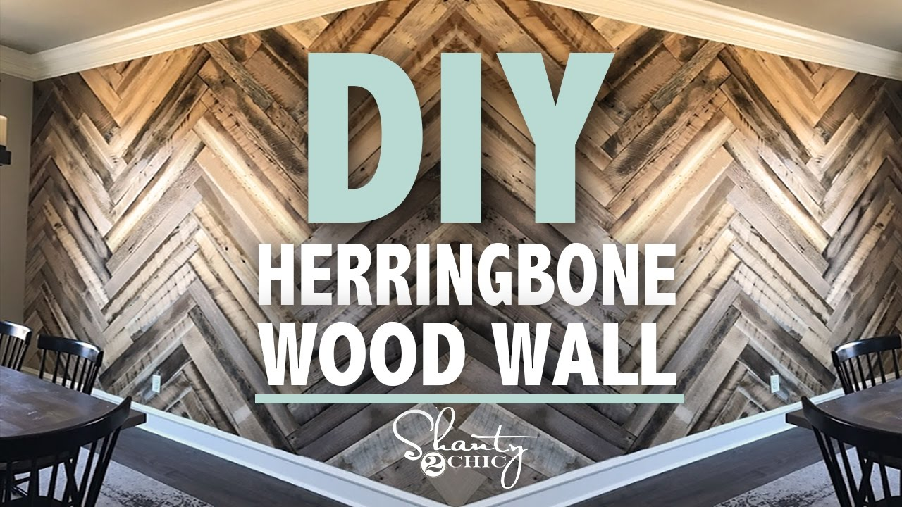 Diy Barn Wood Herringbone Wall Giveaway Shanty2chic
