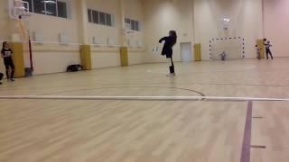 Ангелина Романовская танцует на месте съемок клипа Круче всех