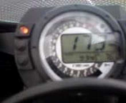 181mph top speed test on kawasaki zx6r zx636 ninja - YouTube