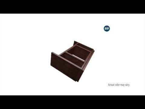 FE9384: Brentford Media Electric Fireplace - Dark Tobacco Assembly Video
