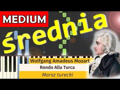 🎹 Marsz Turecki (Rondo Alla Turca, W. A. Mozart) - Piano Tutorial (średnia wersja) (MEDIUM) 🎹