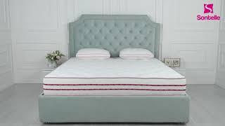 Кровать Sontelle Кеслин зеленая