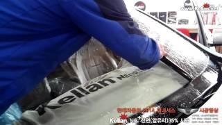 [대구 블랙박스/네비매립/경보기/후방감지기/후방카메라/파인드라이브/아이나비]현대자동차 2014 신형제네시스 켈란NC+앞유리 썬팅 시공.7