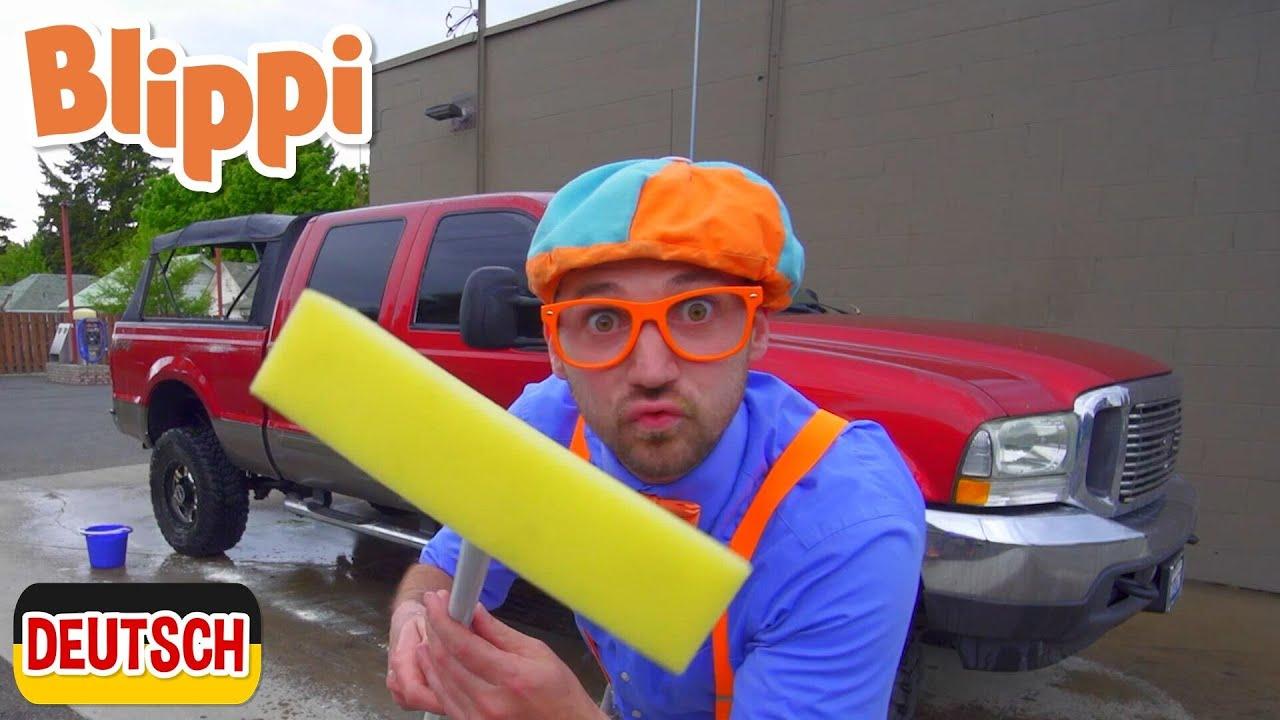 Blippi Deutsch - Wie wäscht man Spielzeugautos? | Abenteuer und Videos für Kinder
