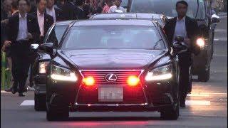 要人車列4連発!!警視庁LEXUS LS警護車!!総理大臣警護車列!!都議選遊説 文京 台東 Prime Minister of Japan Motorcade 2017/6/26/28