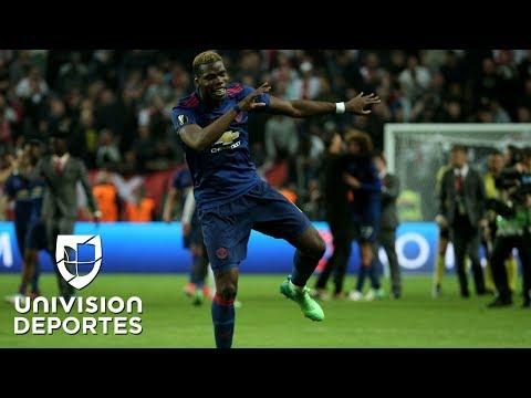 Así fue la simpática celebración de Paul Pogba tras su gol en la final de la Europa League