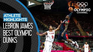 The Best LeBron James Dunks at the Olympics | Athlete Highlights