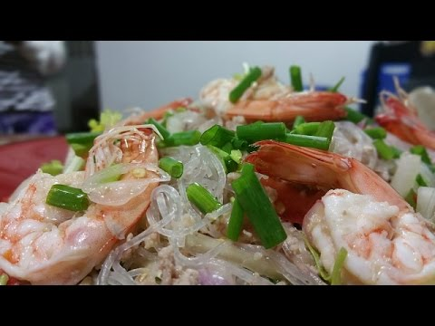 ยำวุ้นเส้น THAI COOKING: SPICY NOODLE SALAD IS HEALTHY DELICIOUS RECIPES