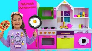 Masal & Öykü Pretend Play with DELUXE Kitchen Toy Set - fun Kids video