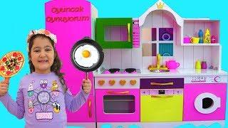 Masal \u0026 Öykü Pretend Play with DELUXE Kitchen Toy Set - fun Kids video