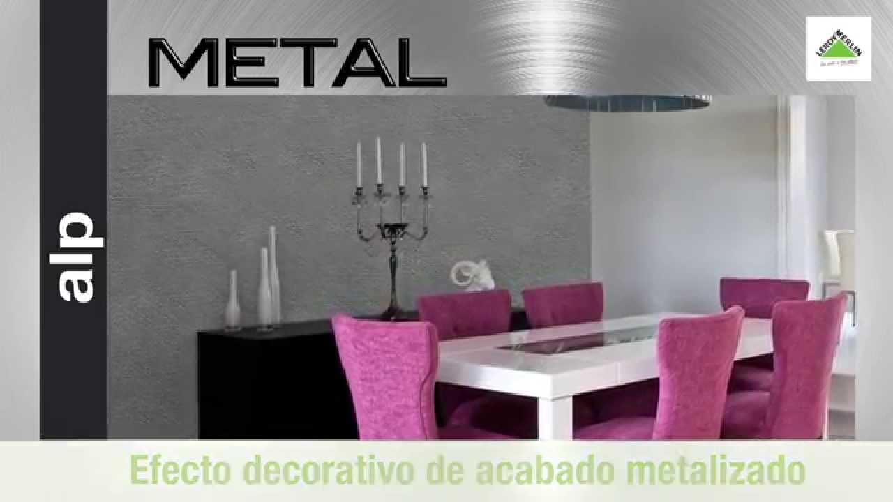 pintura de efecto metal