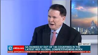 SA has slid further down the World Economic Forum's global competitiveness index.
