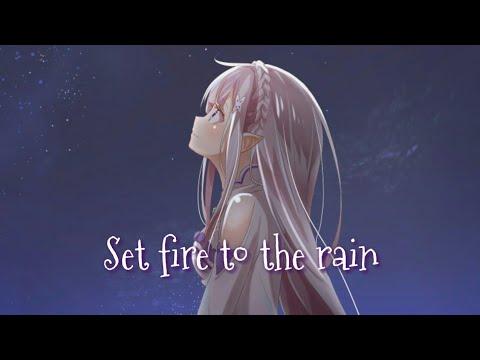 Nightcore _ Set Fire To The Rain (lyrics French)