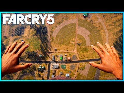 FAR CRY 5 FREE ROAM - SKYDIVING GAMEPLAY | Far Cry 5 Free Roam Gameplay