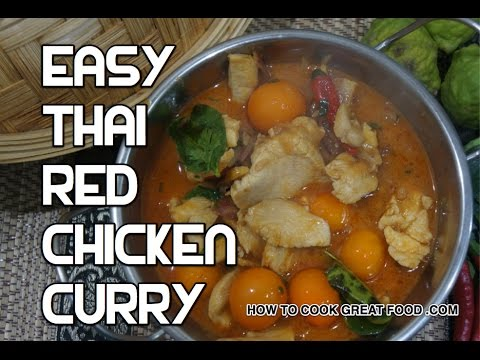 Easy Thai Red Chicken Curry Recipe