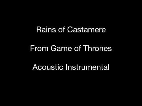 Rains of Castamere - Acoustic Instrumental (with lyrics)