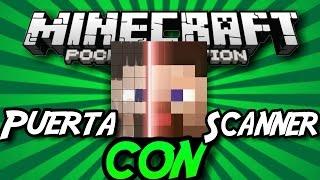 ¡Como Hacer Una Puerta Con Scanner Sin Mods en Minecraft Pe 0.15.3! | Scanner facial!