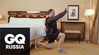 Круговая тренировка с эспандером