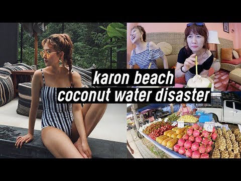 Phuket Trip #3: Coconut Water Disaster, Pool, Karon Beach, Vegan Ice-Cream | DTV #33