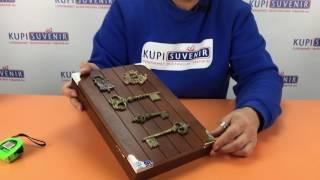 Видеообзор ключницы настенной «Легенда о трех ключах»