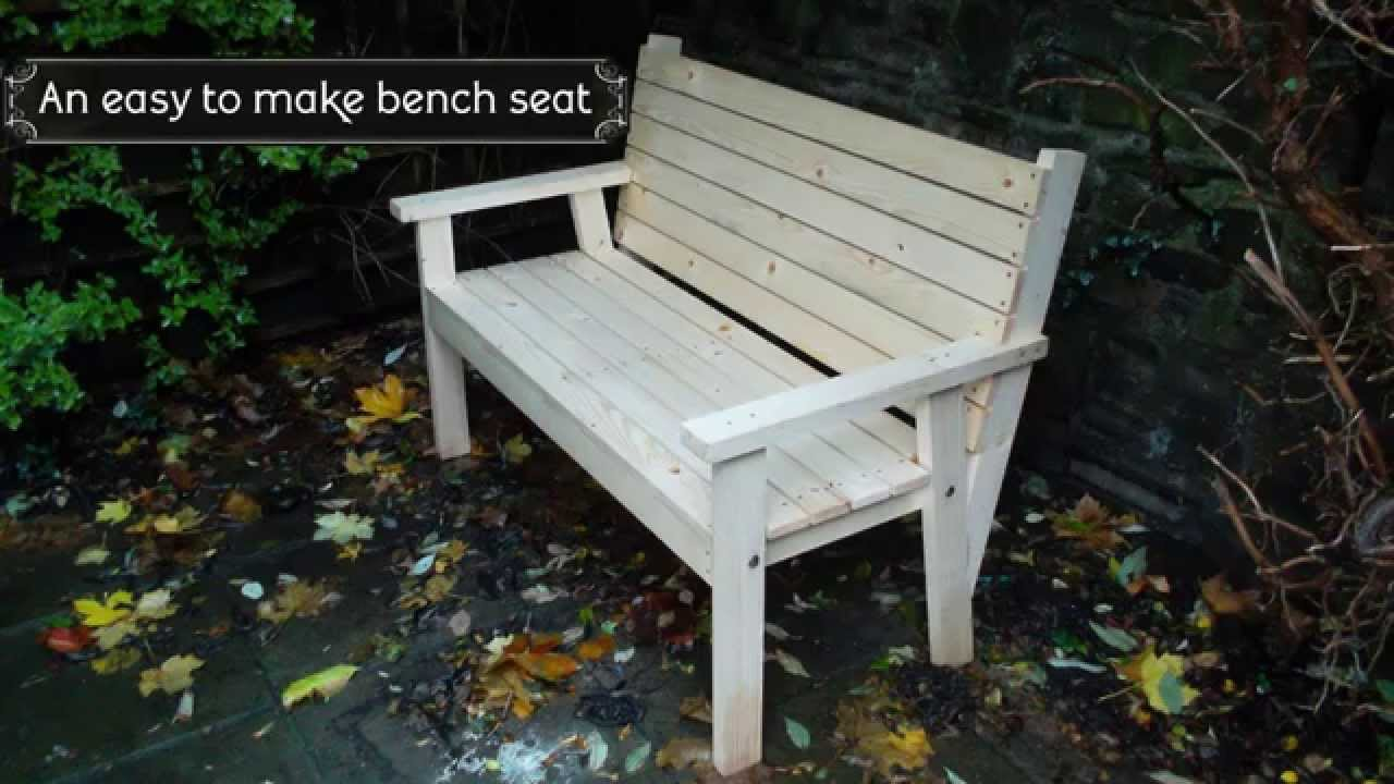 easy to make bench seat youtube. Black Bedroom Furniture Sets. Home Design Ideas