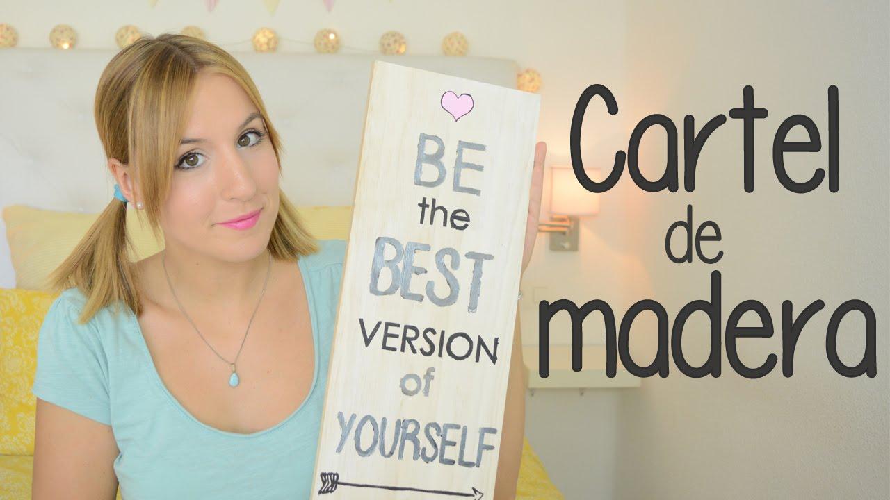 Haz tu propio cartel de madera diy para decorar youtube - Madera para decorar ...