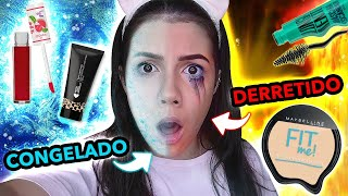 DESAFIO com MAKES CONGELADAS vs DERRETIDAS!!!