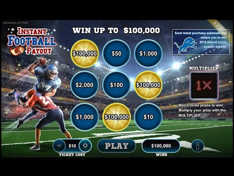 Michigan Lottery Online Games: Instant Football Payout