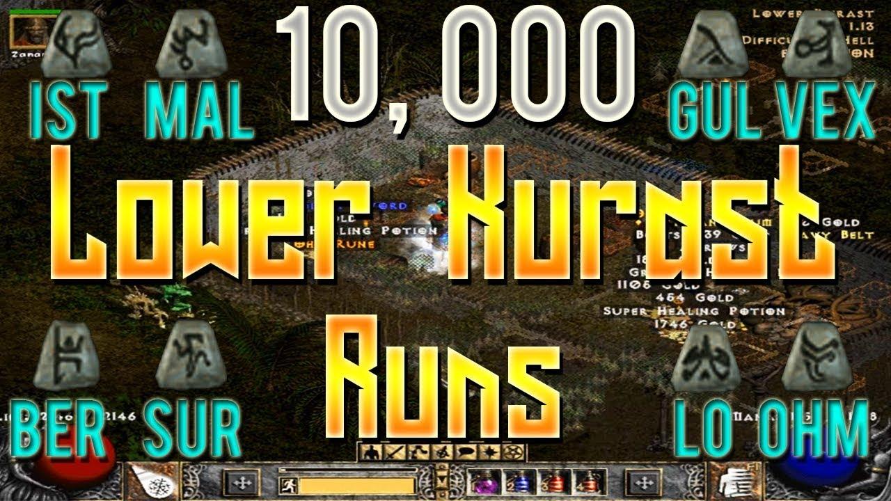 10000 Lower Kurast Runs - Diablo 2 - Human Bot Project Ep 2