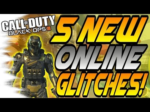 (5/7/16) 5 NEW Online GLITCHES! - Wallbreaches, On Top of Splash! (Black Ops 3/BO3 Glitch)