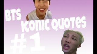Video BTS COMPILATION: iconic quotes download MP3, 3GP, MP4, WEBM, AVI, FLV Juni 2018