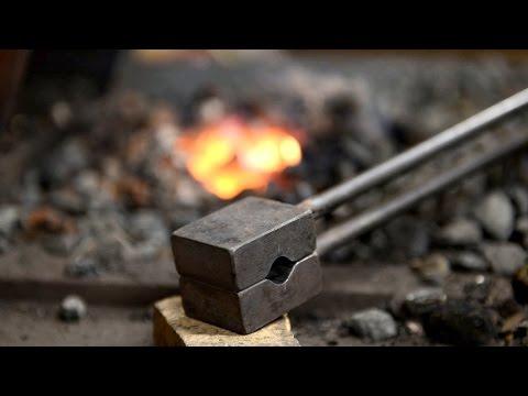 Blacksmithing - Making a spring swage (12mm round dies)