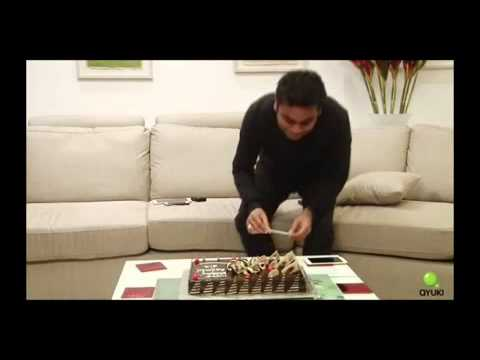 AR Rahman cutting His birthday Cake after interview