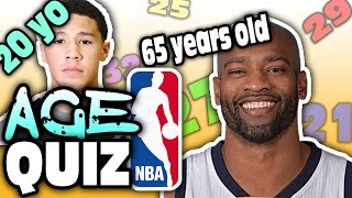 Nba players age quiz!