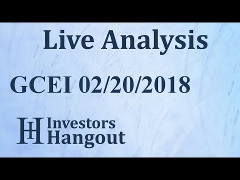 GCEI Stock Global Clean Energy Inc. Live Analysis 02-20-2018