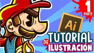 EL BOCETO - Como hacer una ilustración en adobe illustrator desde cero tutorial