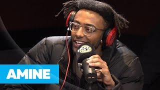 Aminé Stops By Hot 97 To Celebrates Going Gold, and Convince Ebro to Attend Glitter Pop