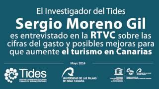 Sergio Moreno, investigador del TIDES, es entrevistado sobre las últimas cifras del gasto turístico.